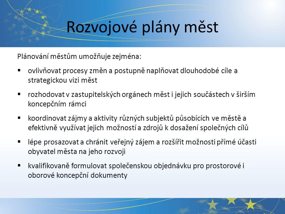 Potřeby a priority měst I. Zdroj: SMO ČR, 2010Zdroj: EK, 2010