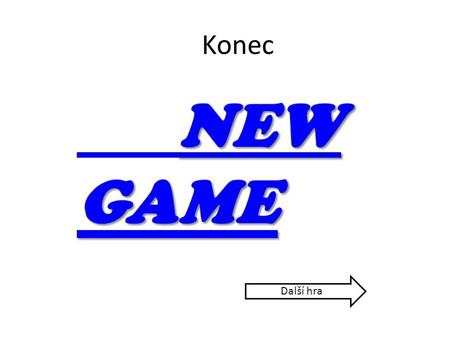 Konec NEW GAME NEW GAME Další hra