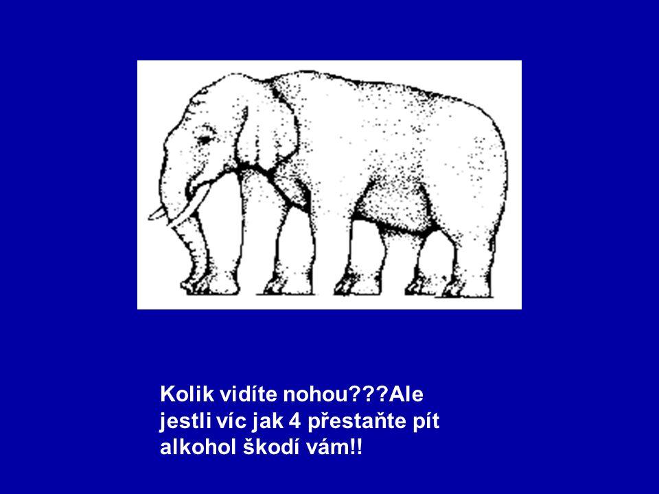 Kolik vidíte nohou???Ale jestli víc jak 4 přestaňte pít alkohol škodí vám!!