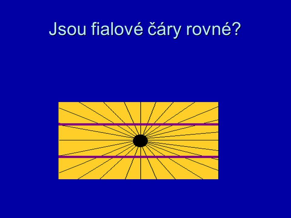Jsou fialové čáry rovné?