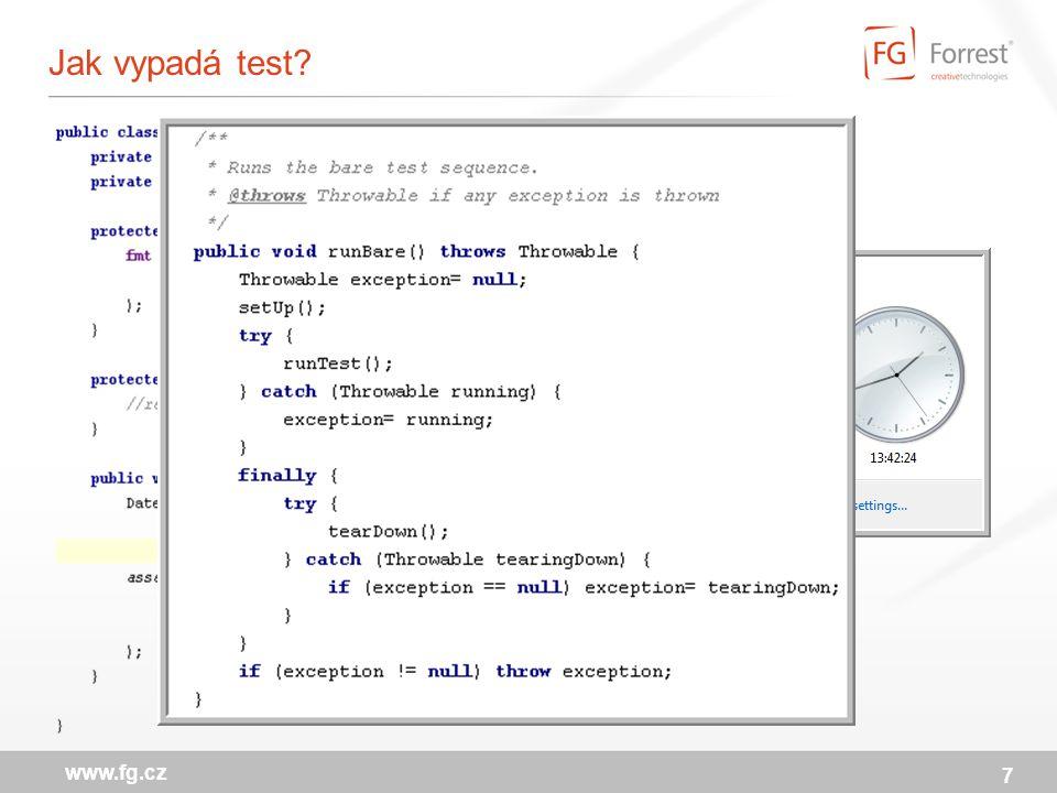 7 www.fg.cz Jak vypadá test