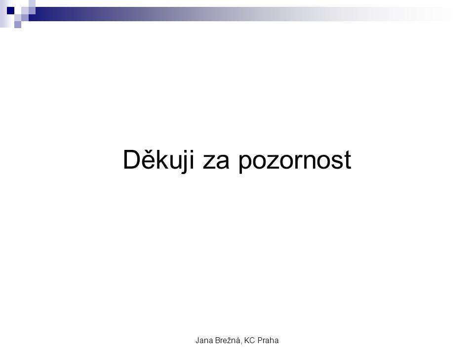 Jana Brežná, KC Praha Děkuji za pozornost