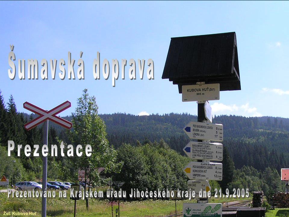 Výkresy 1 : 20 000 – Příklad (B4) Novostavba trati Lipno nad Vltavou – Černá v Pošumaví II.
