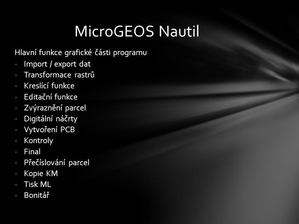 -MicroGEOS Nautil je technické dílo používané v resortu zeměměřictví a katastru nemovitostí.
