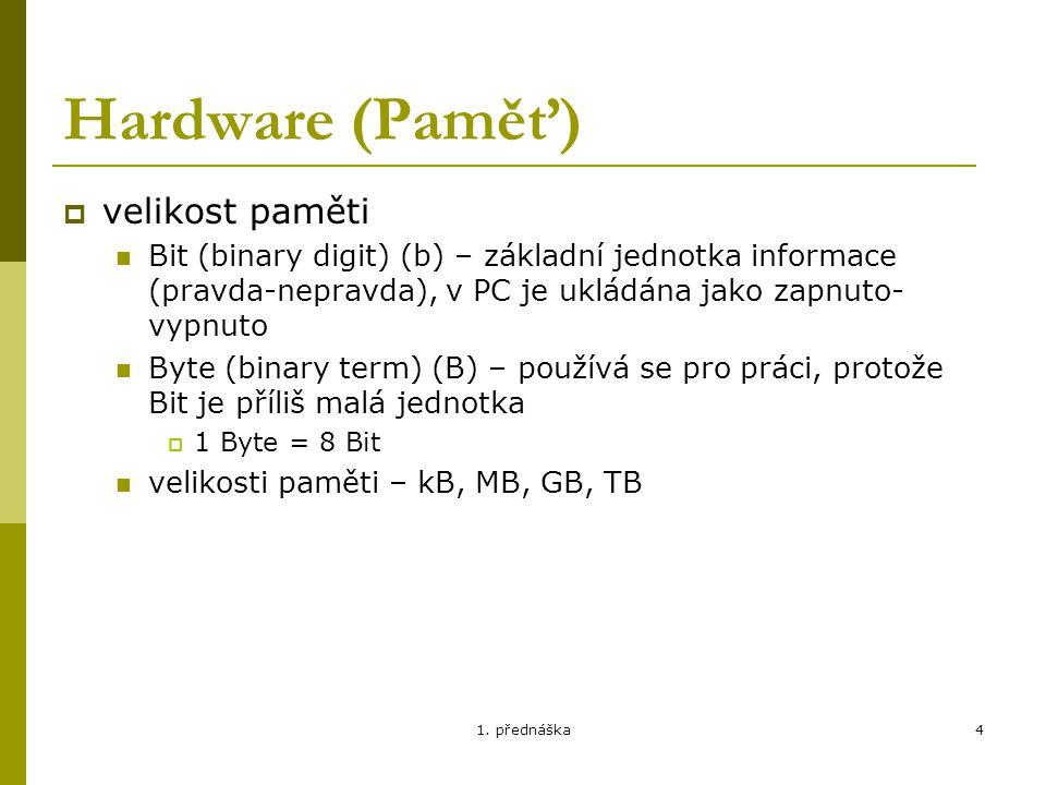 1.přednáška5 Software (BIOS, aplik.