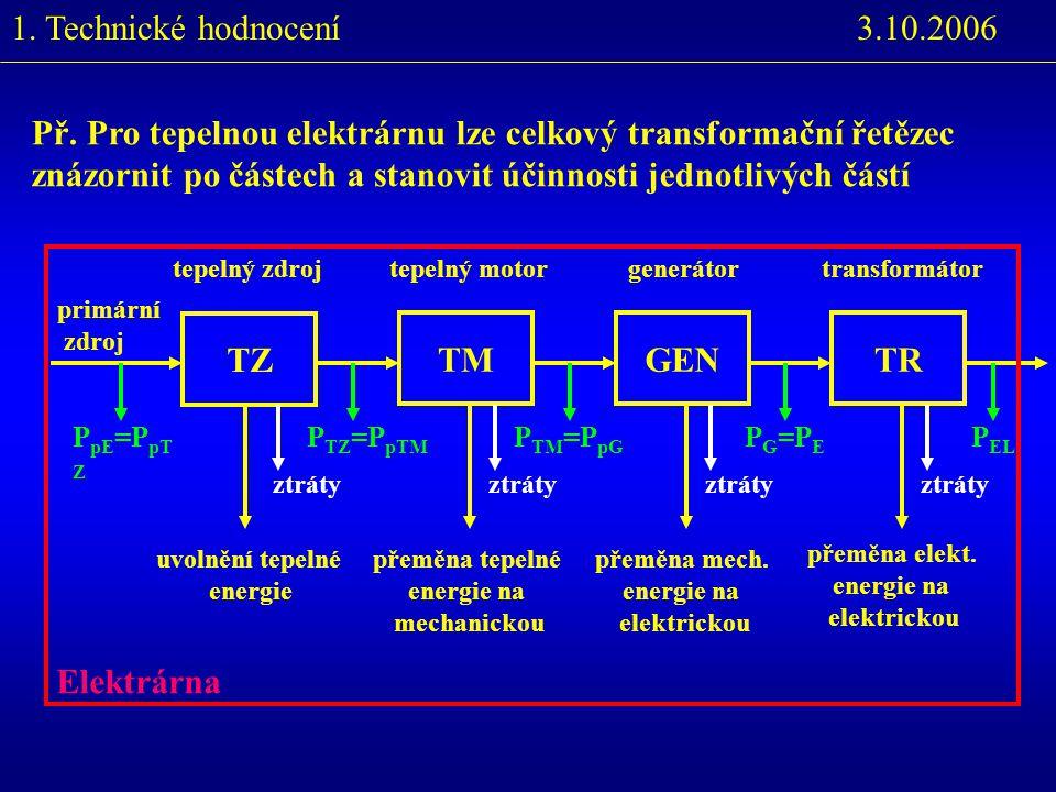 3.10.2006Tepelné elektrárny - přímo měřit - teplota (t), tlak (p), objem (v) - lze je stanovit - zavádějí se - vnitřní energie U [J] - entropie s [kJ/kg.