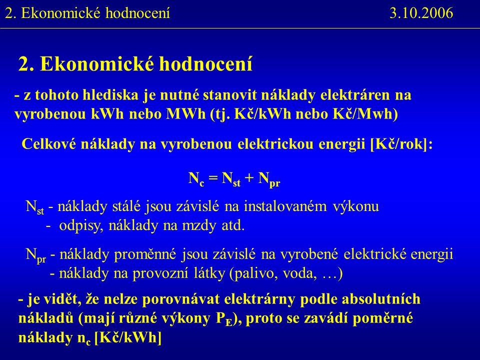 2. Ekonomické hodnocení 3.10.20062.