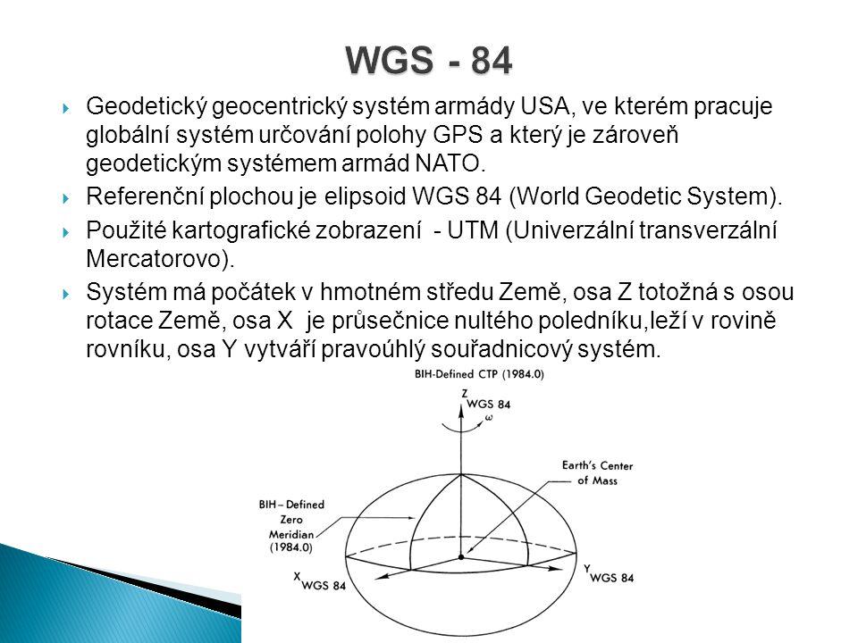  Geodetický geocentrický systém armády USA, ve kterém pracuje globální systém určování polohy GPS a který je zároveň geodetickým systémem armád NATO.