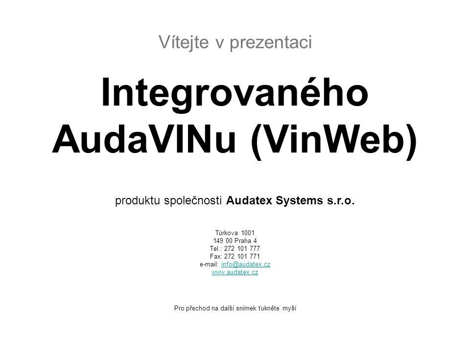 Co je to Integrovaný AudaVIN.