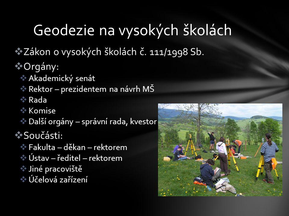  Zákon o vysokých školách č.111/1998 Sb.