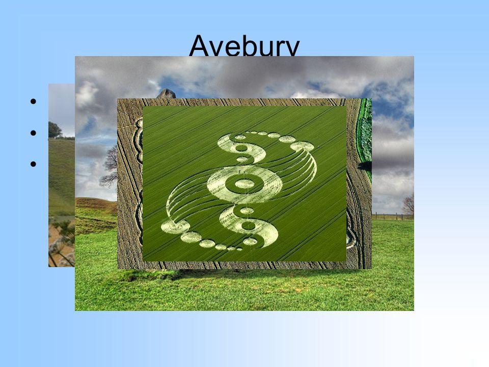 Avebury Jižní Anglie Záhady – kruhy v obilí, UFO apod. 30 km od Stonehenge