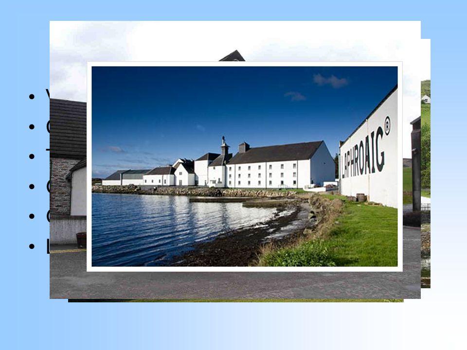 Palírny ve Skotsku Velké množství menších palíren Cardhu Talisker Glenfiddich Glenlivet Laphroaig