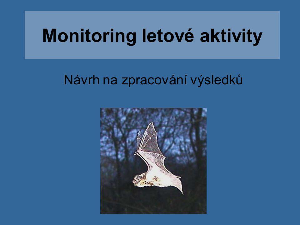 Monitoring letové aktivity Návrh na zpracování výsledků