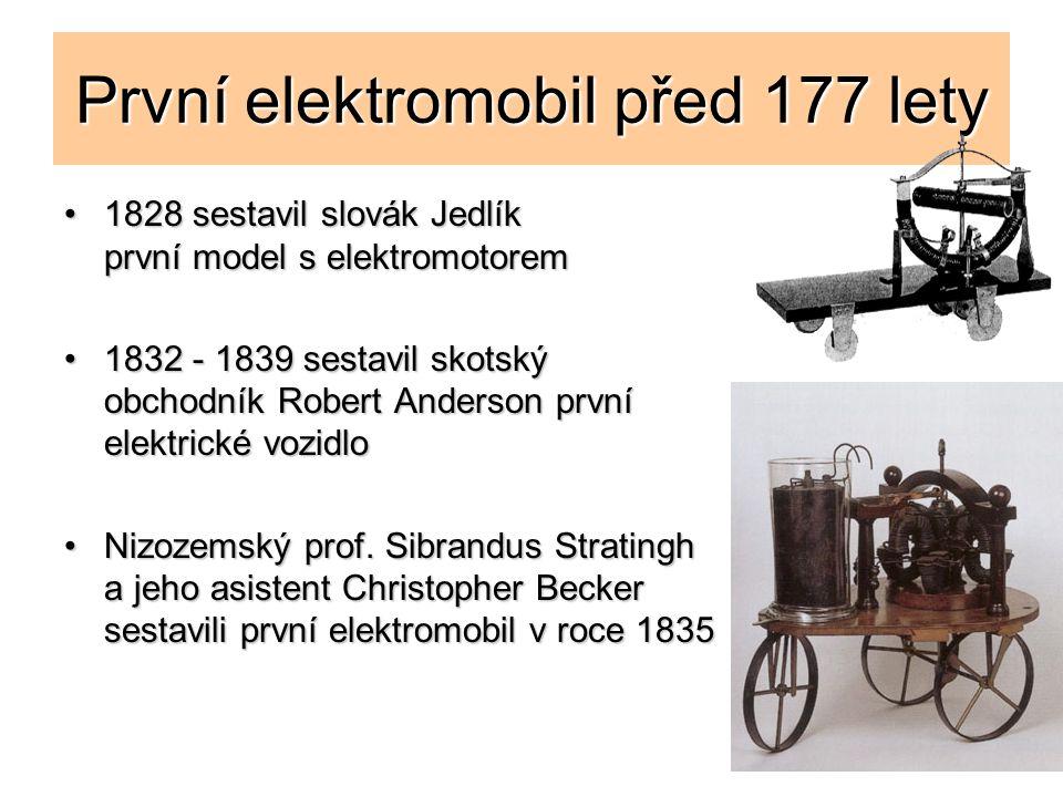 První elektromobil před 177 lety 1828 sestavil slovák Jedlík první model s elektromotorem1828 sestavil slovák Jedlík první model s elektromotorem 1832