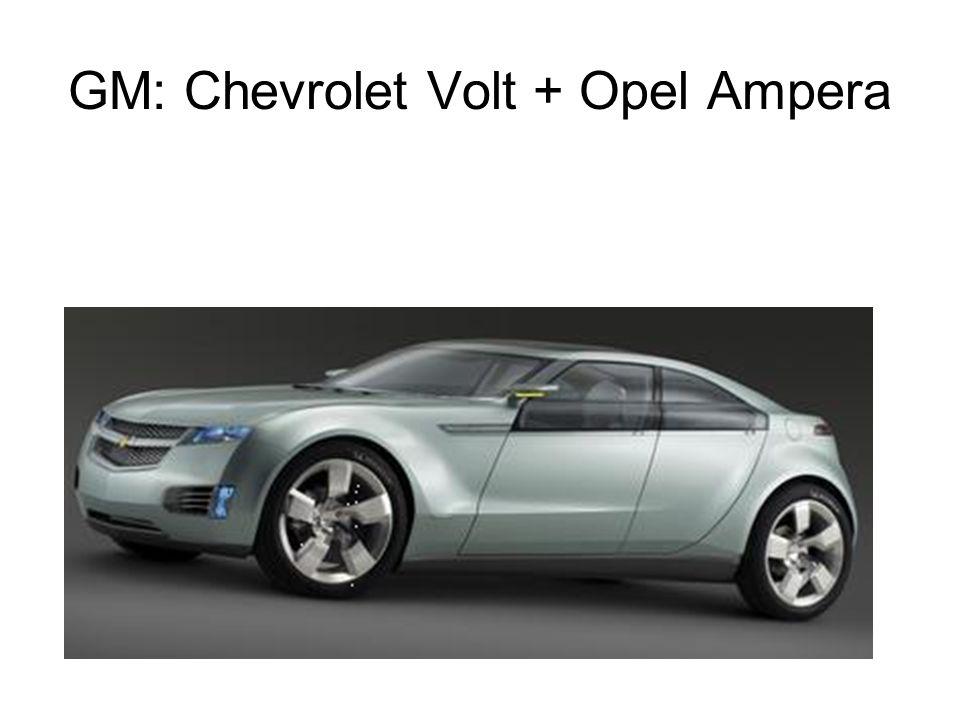 GM: Chevrolet Volt + Opel Ampera
