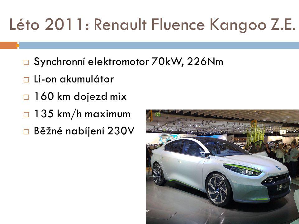 Léto 2011: Renault Fluence Kangoo Z.E.