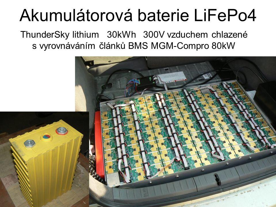 Akumulátorová baterie LiFePo4 ThunderSky lithium 30kWh 300V vzduchem chlazené s vyrovnáváním článků BMS MGM-Compro 80kW
