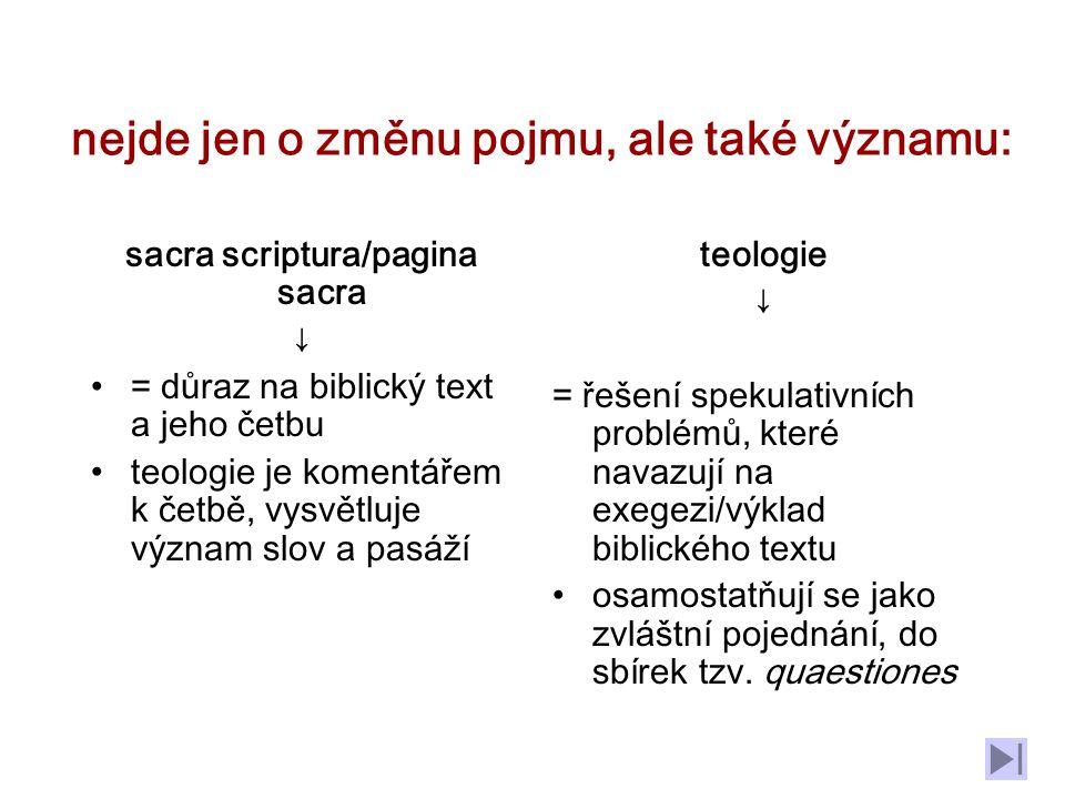 ZÁPAD: sv. Augustin: pojednání o Bohu odpovídá spíše Varronově theologia naturalis v teologii doby Otců do teologie patří nejen reflexe, ale vše, co v