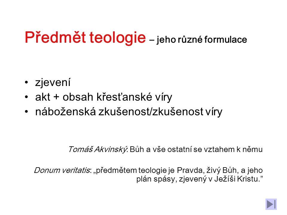 Úkol teologie (podle J.E.