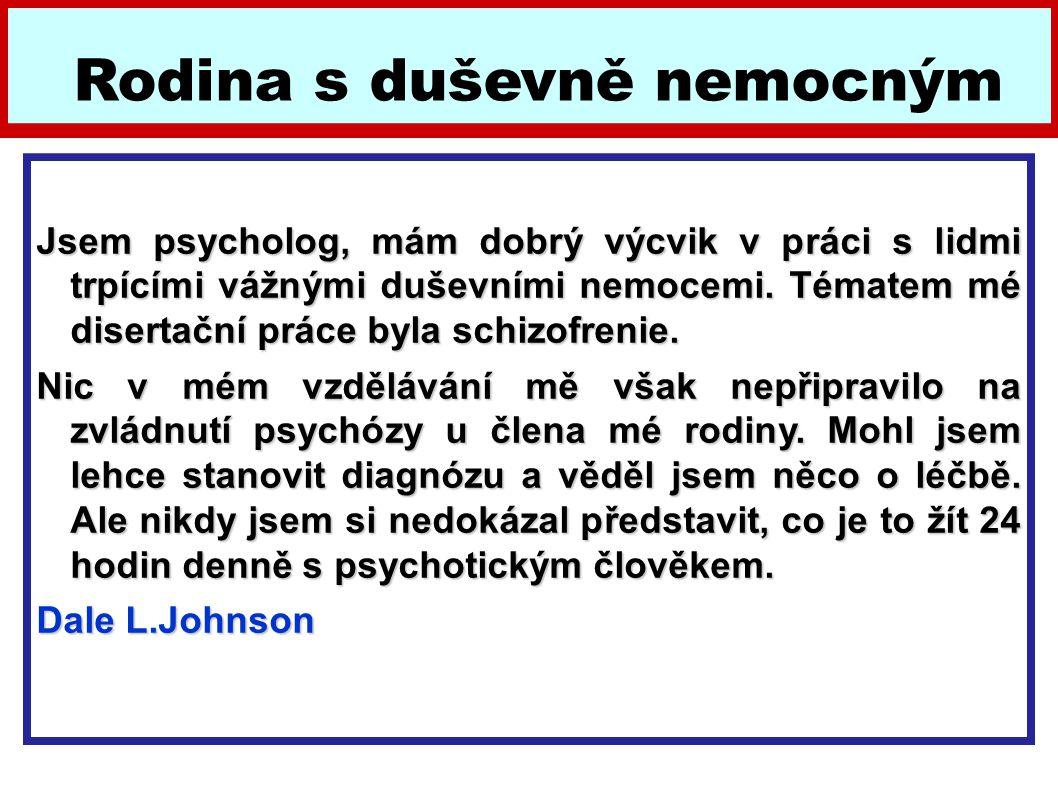 Jsem psycholog, mám dobrý výcvik v práci s lidmi trpícími vážnými duševními nemocemi. Tématem mé disertační práce byla schizofrenie. Nic v mém vzděláv
