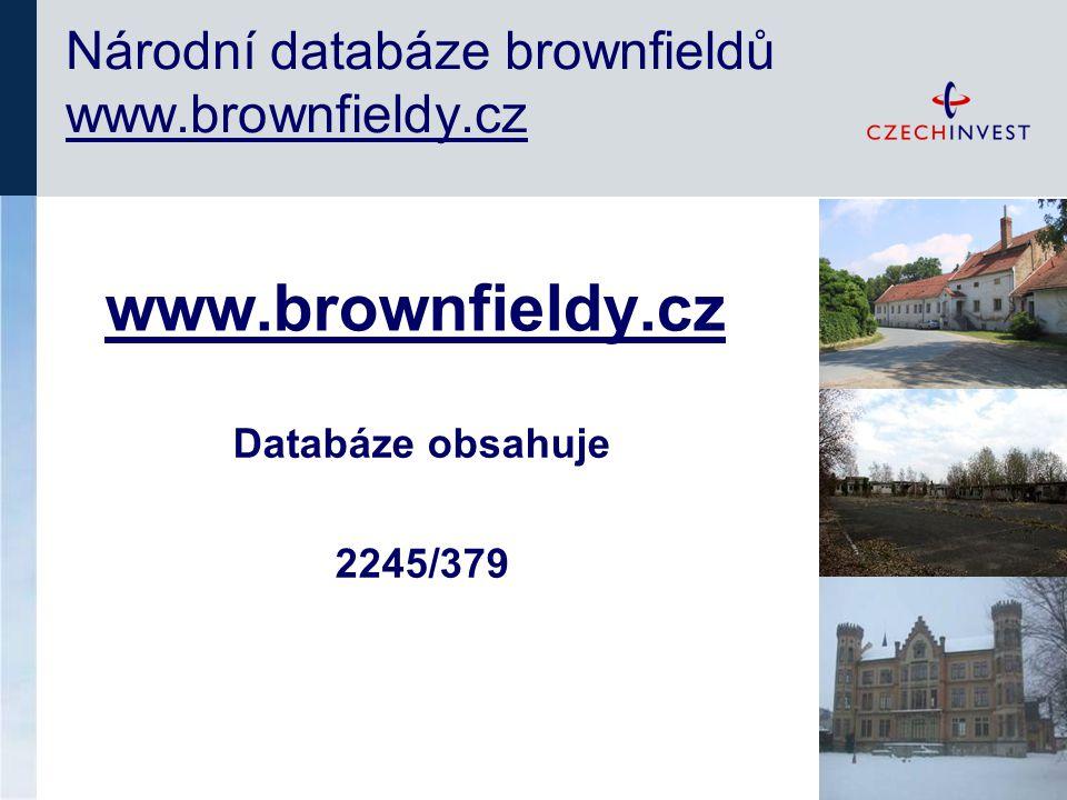 www.brownfieldy.cz Národní databáze brownfieldů www.brownfieldy.cz Databáze obsahuje 2245/379