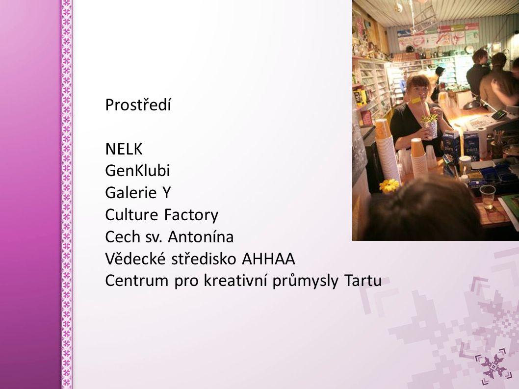 Prostředí NELK GenKlubi Galerie Y Culture Factory Cech sv.