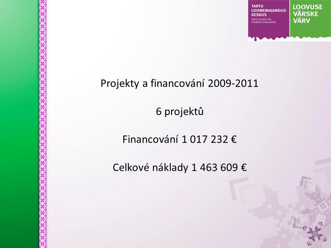 Projekty a financování 2009-2011 6 projektů Financování 1 017 232 € Celkové náklady 1 463 609 €