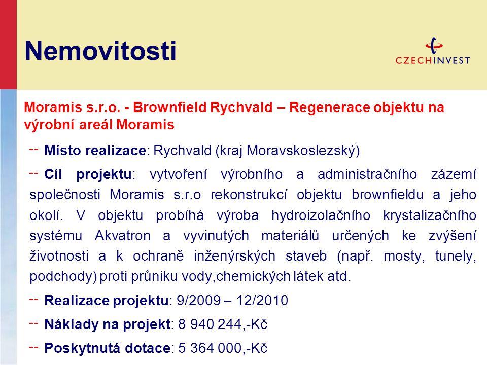 Nemovitosti Moramis s.r.o. - Brownfield Rychvald – Regenerace objektu na výrobní areál Moramis ╌ Místo realizace: Rychvald (kraj Moravskoslezský) ╌ Cí