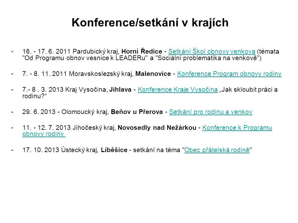 Konference/setkání v krajích -16.- 17. 6.