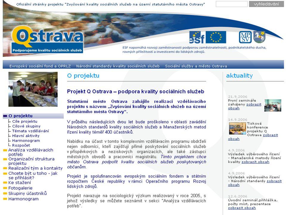 """Motto """"Sociální služby nejsou o průměrech, sociální služby jsou o reálných lidech Bílá kniha v sociálních službách, MPSV ČR 2003"""