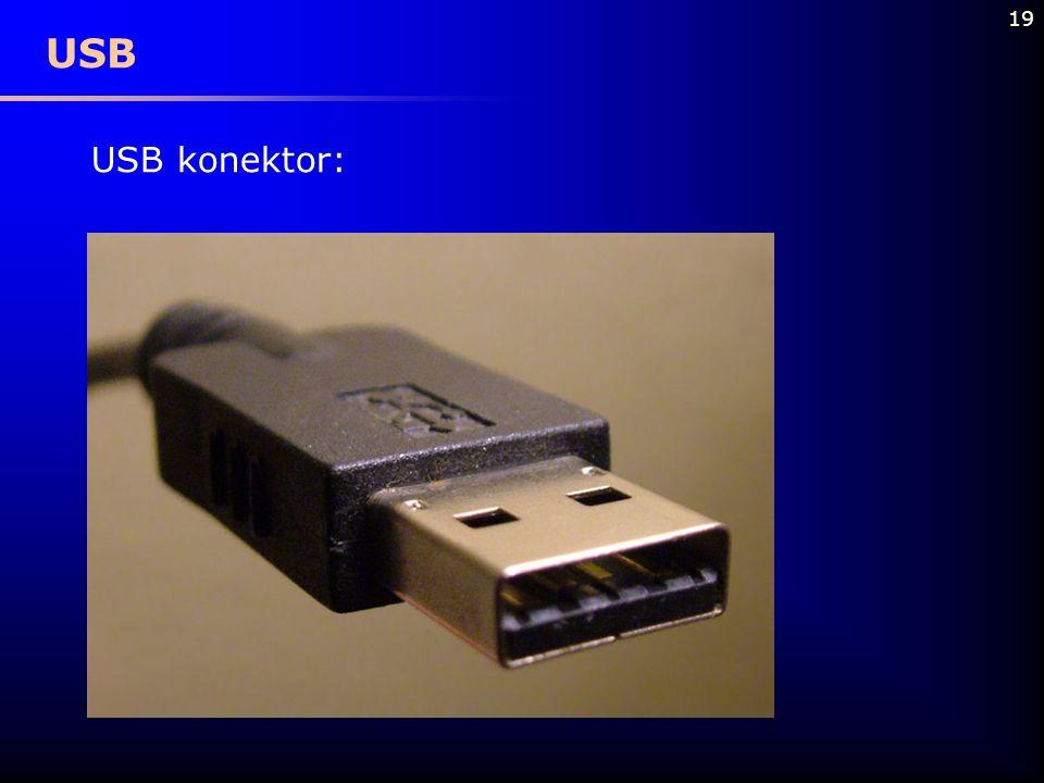19 USB USB konektor: