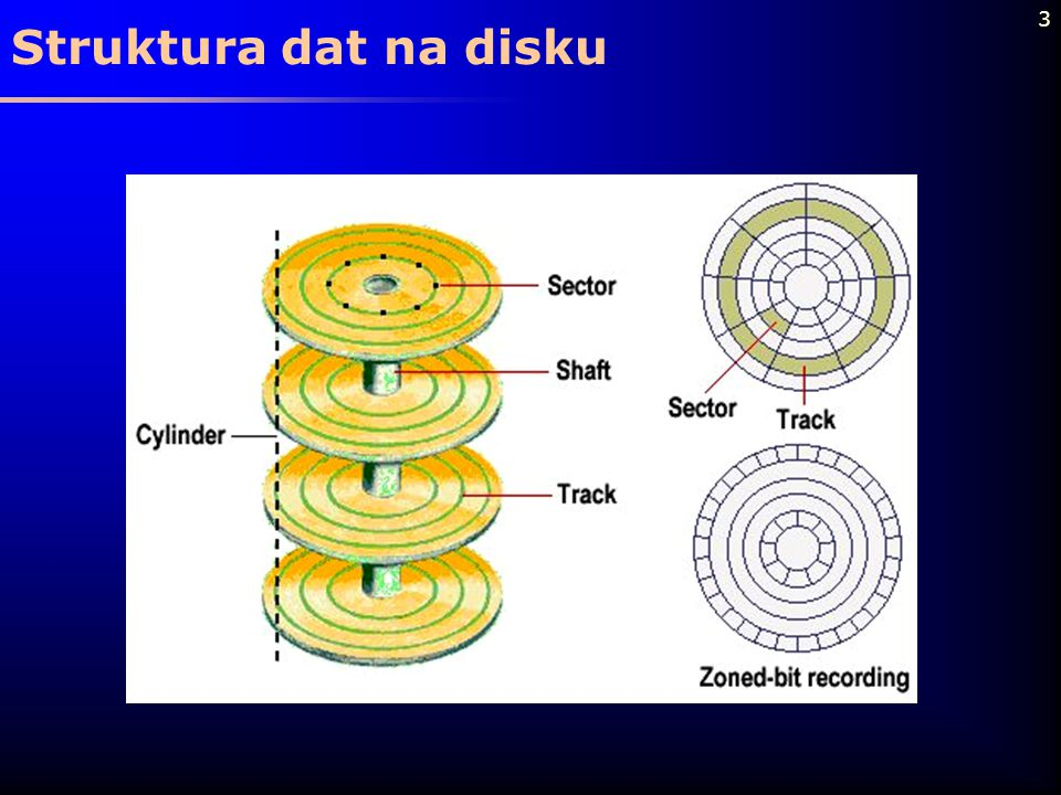 3 Struktura dat na disku