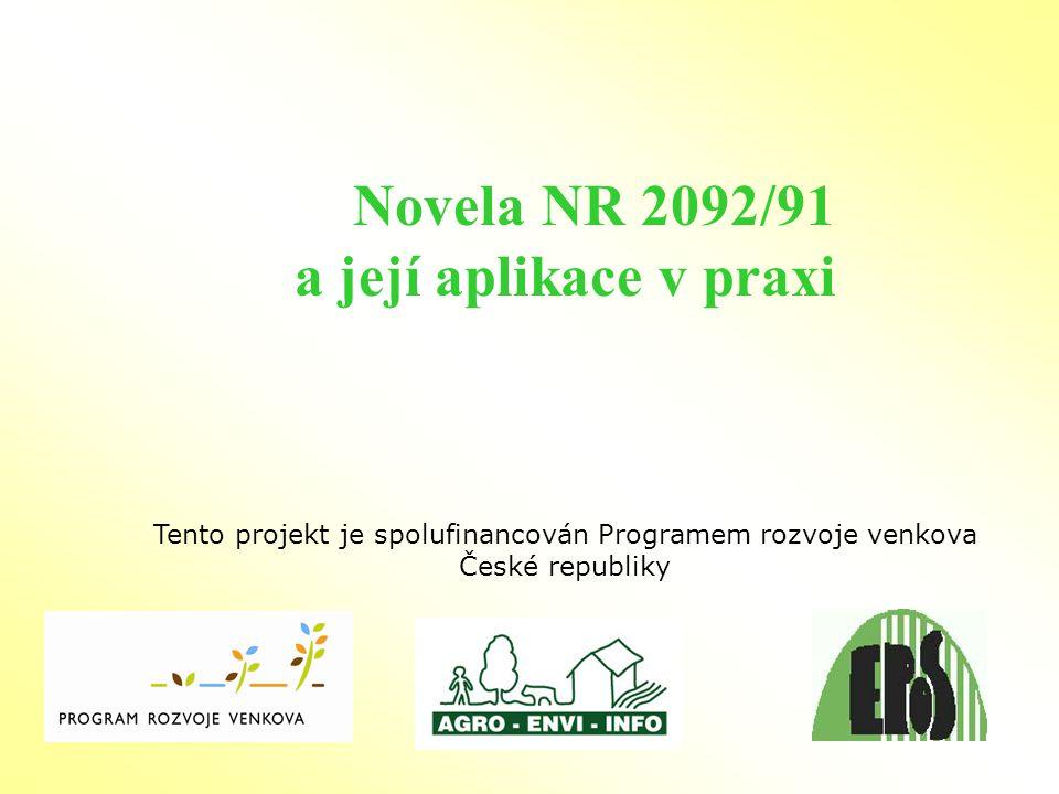 Analýza vývoje ekologického zemědělství v ČR 2007 1316 312890 7,35