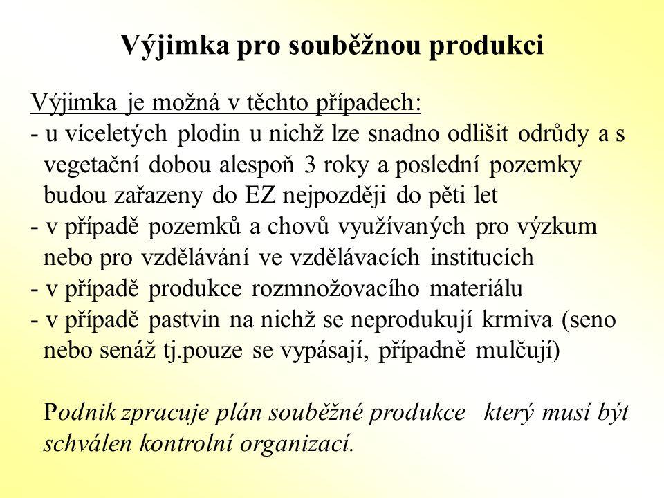 Přechodné období (konverze) Každý kdo hodlá podnikat v ekologickém zemědělství (označovat a uvádět na trh) se musí registrovat u Mze ČR a podrobit se kontrole.