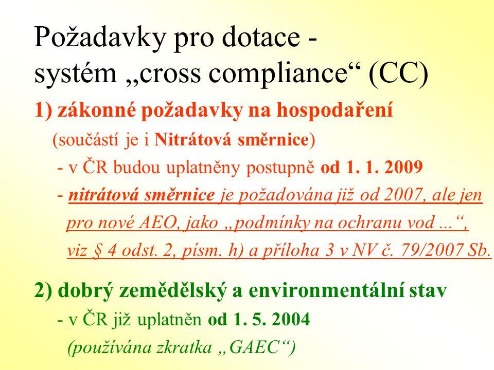 CC: zákonné požadavky na hospodaření (19směrnic a nařízení EU) 3 směrnice Rady CC: zákonné požadavky na hospodaření (19 směrnic a nařízení EU) 1.