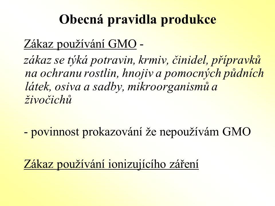Zemědělský podnik -celý podnik je řízen v souladu s pravidly EZ -podnik však může být rozdělen do hospodářství které nemusí být všechny ekologické -podmínkou je, že konvenčně provozovaná hospodářství musí být v každém okamžiku jasně (fyzicky) oddělená od ekologicky provozovaných hospodářství a musí o tom vést průkaznou provozní a účetní evidenci -kontrole podléhá celý podnik, tj.i konvenčně provozovaná hospodářství -v takovém případě platí zákaz souběžné produkce -zákaz souběžné produkce platí i pro přechodné období Souběžnou produkcí je pěstování stejných druhů plodin, chov stejných druhů hospodářských zvířat a skladování stejných produktů.