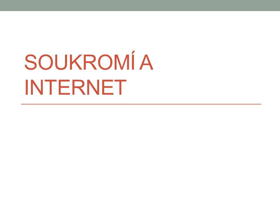 SOUKROMÍ A INTERNET