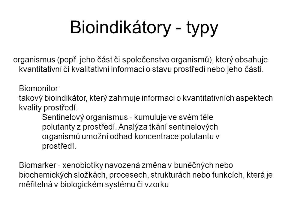 organismus (popř. jeho část či společenstvo organismů), který obsahuje kvantitativní či kvalitativní informaci o stavu prostředí nebo jeho části. Biom