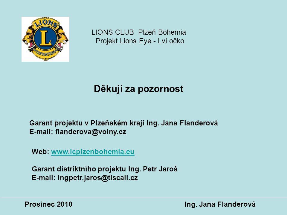 Děkuji za pozornost Web: www.lcplzenbohemia.euwww.lcplzenbohemia.eu Garant distriktního projektu Ing. Petr Jaroš E-mail: ingpetr.jaros@tiscali.cz Gara