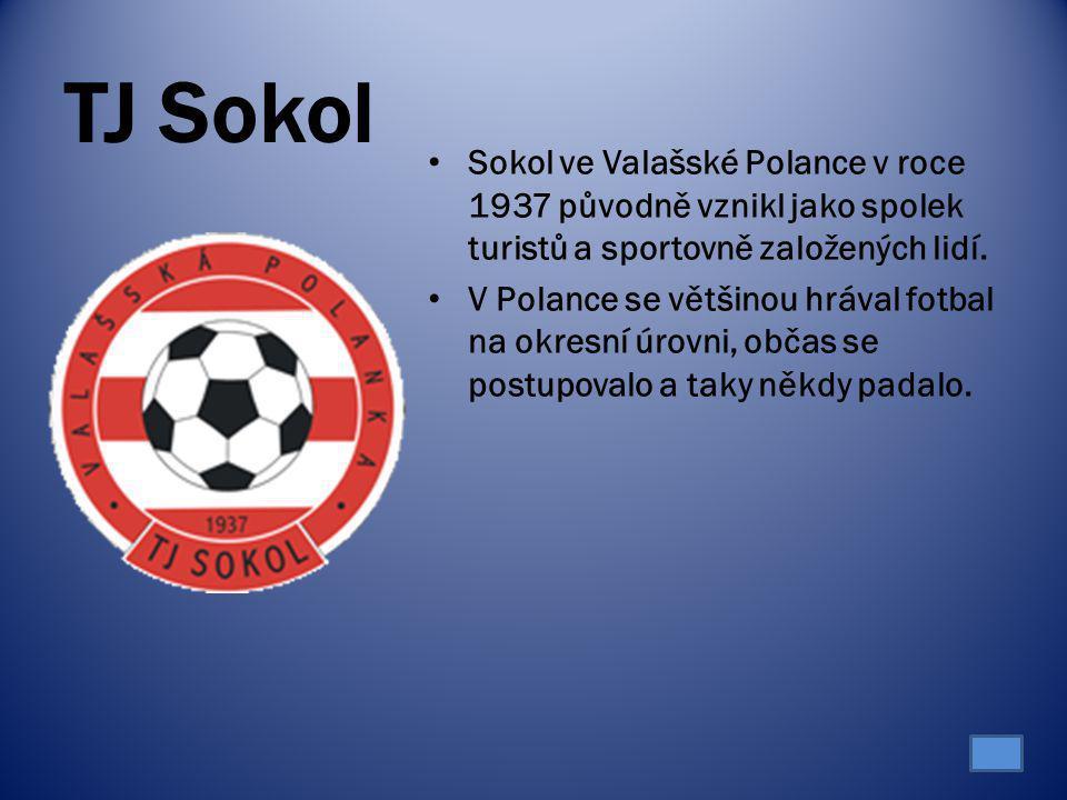 TJ Sokol Sokol ve Valašské Polance v roce 1937 původně vznikl jako spolek turistů a sportovně založených lidí. V Polance se většinou hrával fotbal na
