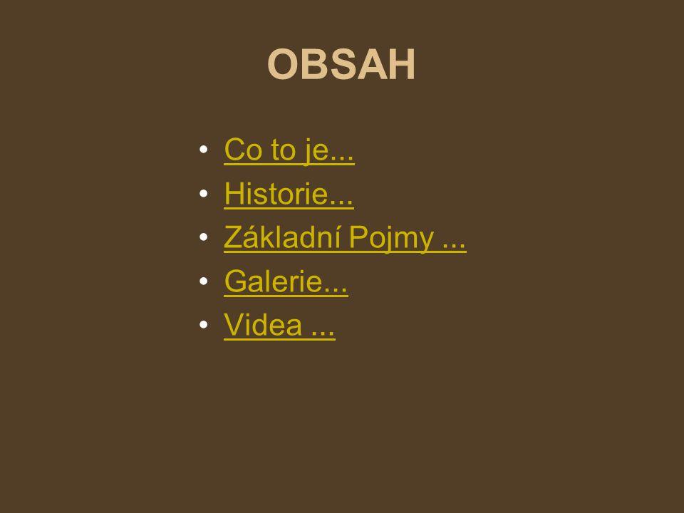 OBSAH Co to je... Historie... Základní Pojmy...Základní Pojmy... Galerie... Videa...Videa...