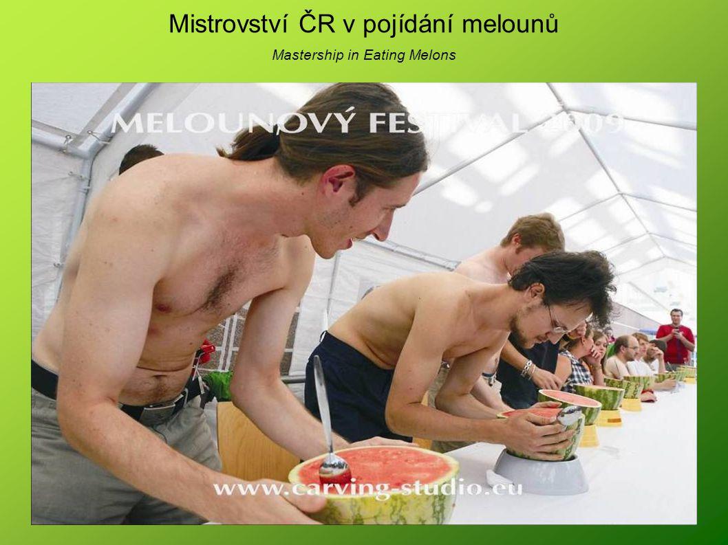 Mistrovství ČR v pojídání melounů Mastership in Eating Melons