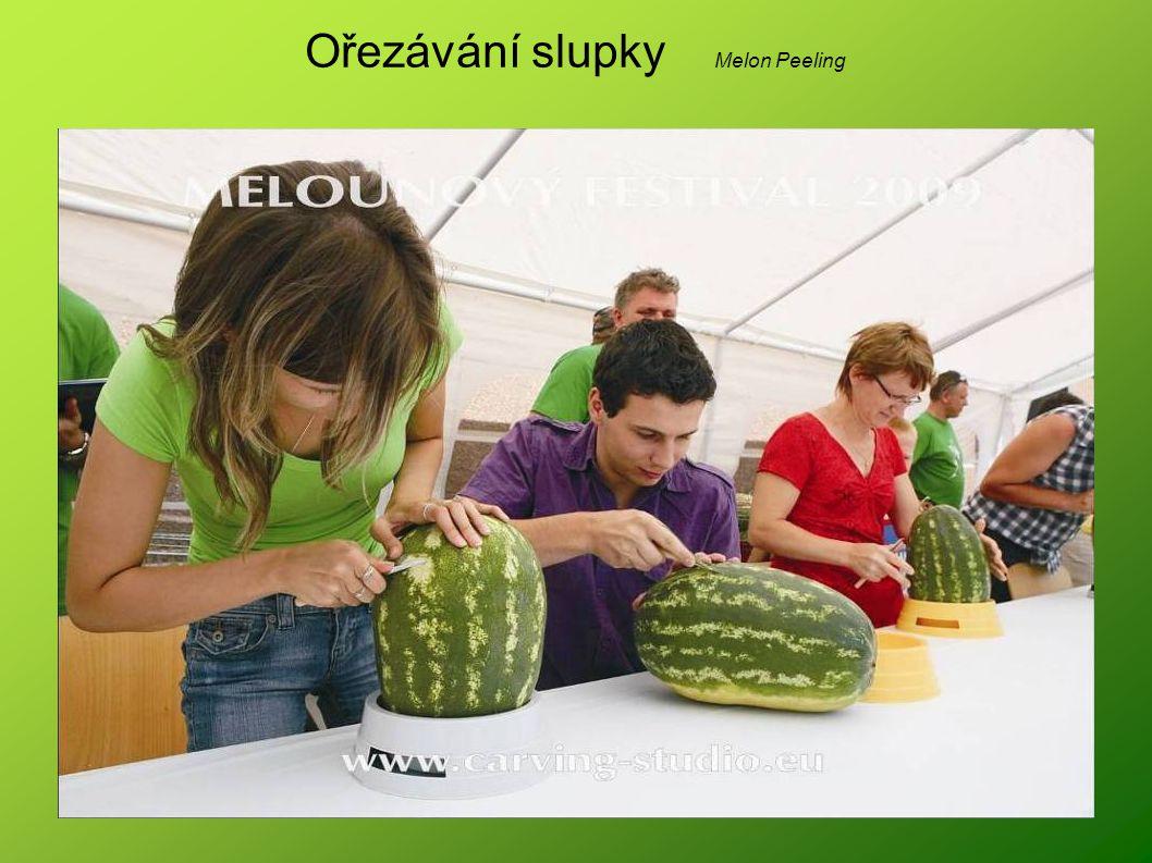 Ořezávání slupky Melon Peeling