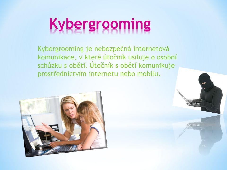 Kybergrooming je nebezpečná internetová komunikace, v které útočník usiluje o osobní schůzku s obětí.