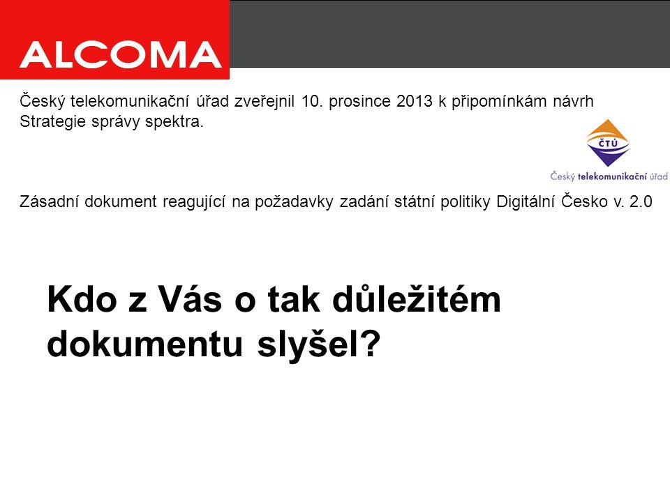 Český telekomunikační úřad zveřejnil 10.