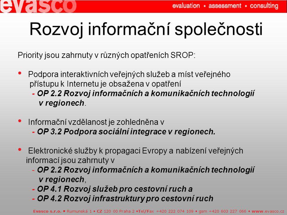 Rozvoj informační společnosti Evasco s.r.o.