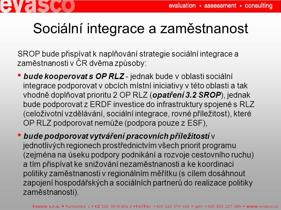 Sociální integrace a zaměstnanost Evasco s.r.o.