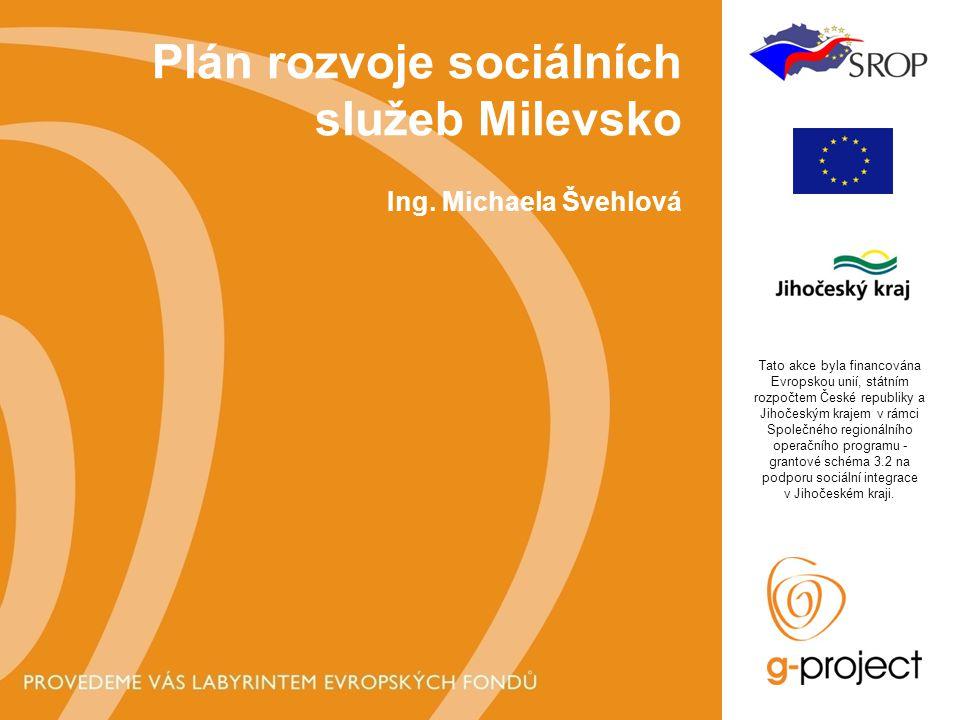 Plán rozvoje sociálních služeb Milevsko Ing.