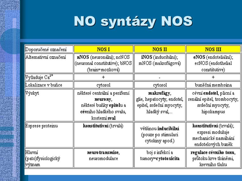 Účinky na cílovou tkáň v nižších koncentracích převládá regulační působení aktivací guanylátcyklázy při velkých množstvích oxidace za tvorby cytotoxických produktů (ONOO - ) - zabíjení i jinak obtížně zlikvidovatelných mikroorganismů (např.