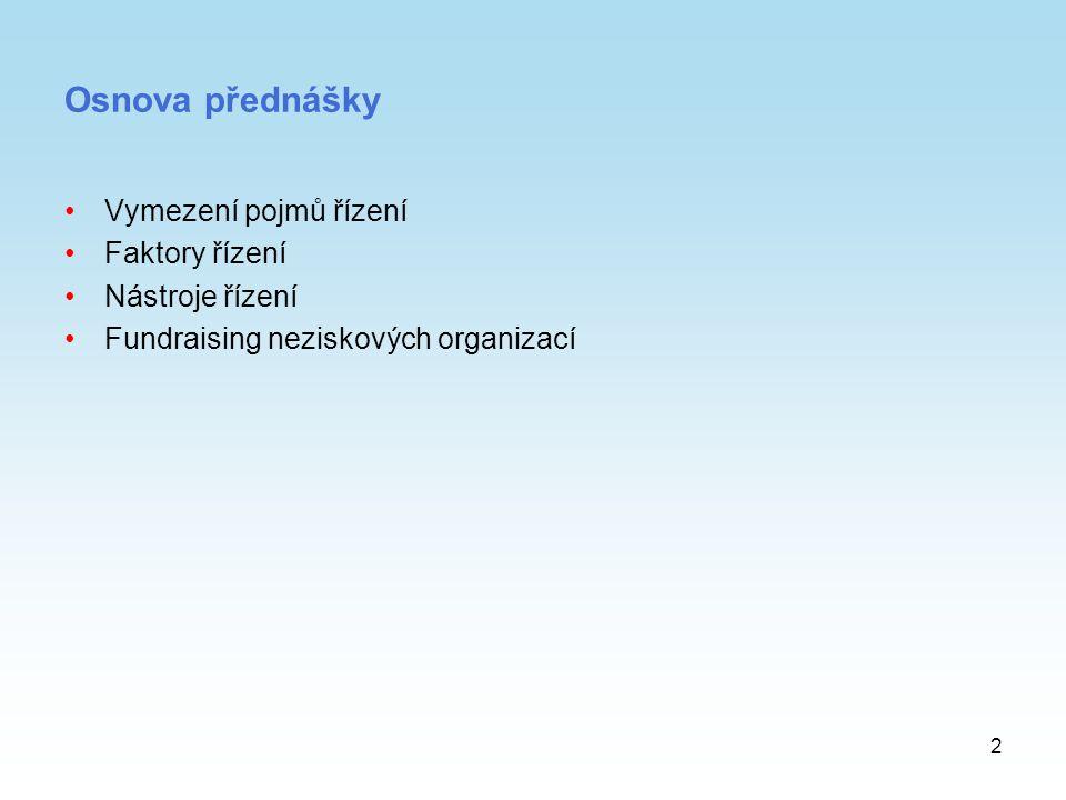 13 Řízení lidských zdrojů Skupiny pracovníku v NO: –pracovníci, kteří vykonávají řídící činnost, –pracovníci vykonávající obslužné práce, –dobrovolníci.